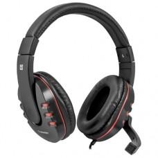 Наушники-гарнитура игровые Defender Warhead G-160 черный  кабель 2,5 м