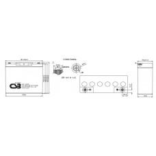 Аккумулятор CSB HRL1280W 12В 20Ач серии HRL