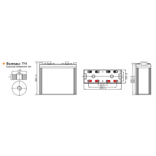 Аккумулятор Leoch DJ1200 12В 1200Ач серии DJ