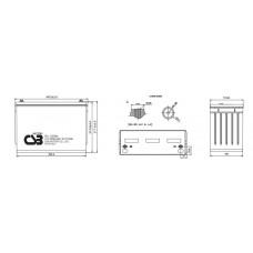 Аккумулятор CSB HRL12390W 12В 100Ач серии HRL
