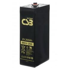 Аккумулятор CSB MSV200 2В 200Ач серии MSV