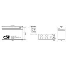 Аккумулятор CSB UPS123607 12В 7,5Ач серии UPS