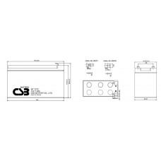 Аккумулятор CSB GP1272(28W) 12В 7,2Ач серии GP