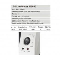 Ламинатор COMIX F9050 А4, 2 вала, 80-125 мкм, 30 см/мин.