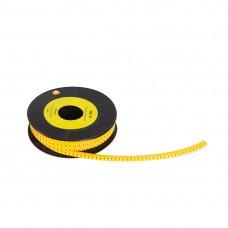 """Маркер кабельный Deluxe МК-0 (0,75-3,0 мм) символ """"C"""" (1000 штук в упаковке)"""
