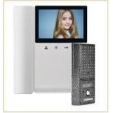 Комплект видеодомофона Commax-CDV-43KM (WHI) + DRC-4CPN2(SIL) с трубкой