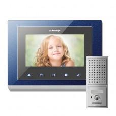 Комплект видеодомофона Commax CMV-70S + Вызывная панель DRC-4CPN2