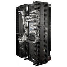 """Valueline, вертикальный кабельный организатор для 2- и 4-опорных стоек, 84"""" X 12"""" (213х30 см), двусторонний с дверцами"""