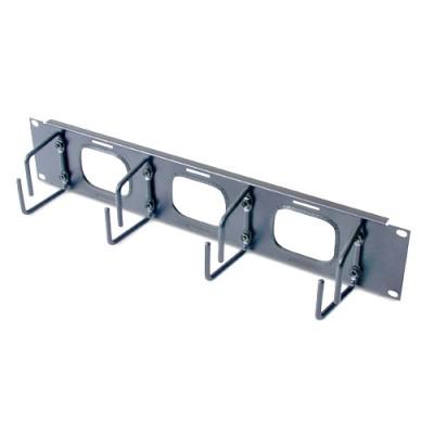 Горизонтальный кабельный организатор высотой 2U с отверстиями для кабелей
