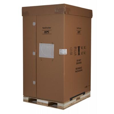 Шкаф NetShelter SX 48U шириной 600 мм, глубиной 1200 мм, с боковыми панелями, черного цвета — несущая способность 900 кг. Противоударная упаковка.