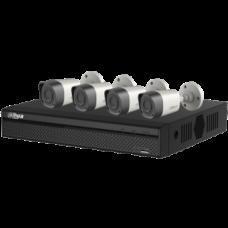 HDCVI комплект для видеонаблюдния на цилиндрические(х4) камеры 720P