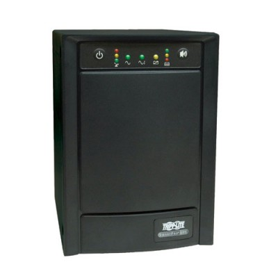 Линейно-интерактивный ИБП семейства SmartPro вертикального монтажа (230 В; 1,05 кВА; 650 Вт) с гнездом для установки дополнительных сетевых карт, разъемами USB/DB9 и 8 розетками