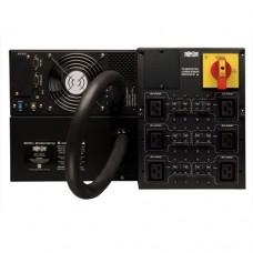 ИБП с двойным преобразованием семейства SmartOnline (200-240 В, 10 кВА, 9 кВт) высотой 6U, с увеличенным временем автономной работы, гнездом для подключения сетевых карт, разъемами USB/DB9, переключателем на обходную цепь, разъемом типа С19